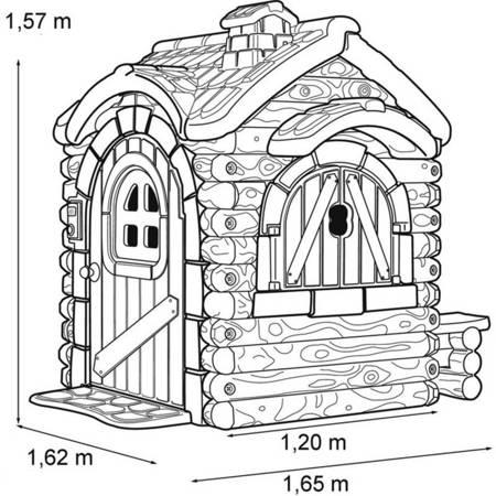 Domek Ogrodowy Drewniana Chatka + Dźwięk