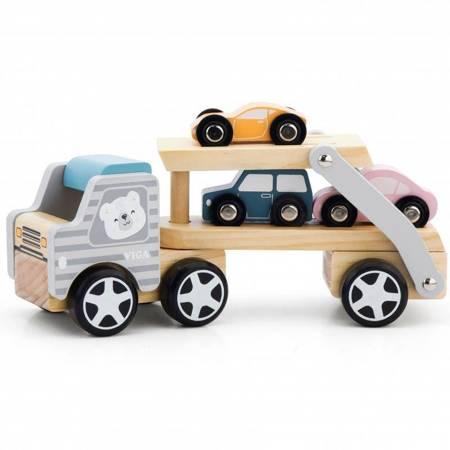 Drewniana Laweta z samochodami Viga Toys