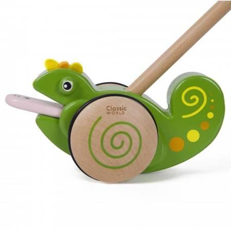 Drewniany Pchacz Kameleon Classic Toys