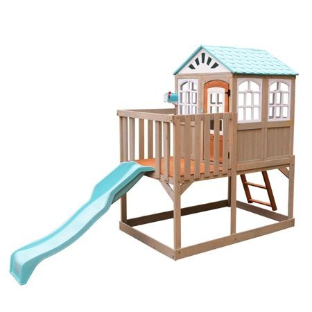 Drewniany Plac Zabaw i Domek Ogrodowy na palach Kidkraft Highline Retreat F26420EI