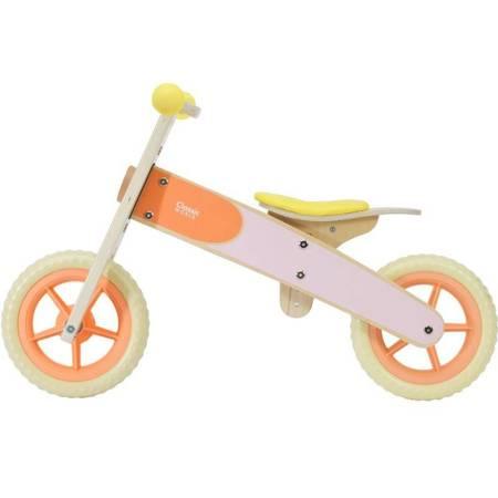 Drewniany Rowerek Biegowy  Pomarańczowy Classic World