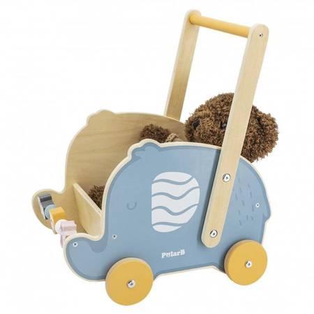 Drewniany Wózek 2w1 Chodzik Pchacz Słonik Viga Toys