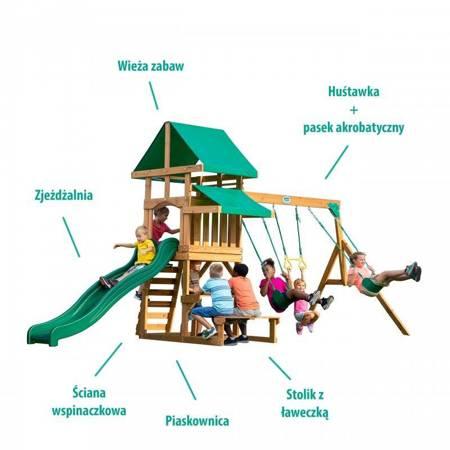Cedrowy Drewniany Plac Zabaw Marlon Adventure 6w1