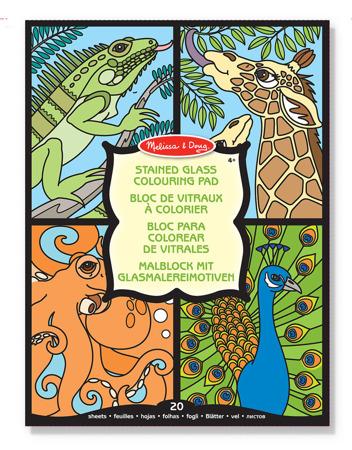 DSC Kolorowanki Witrażowe Zwierzaczki  Melissa and Doug 14385