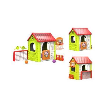 Domek Ogrodowy dla dzieci Multi Plac Zabaw 6 w 1