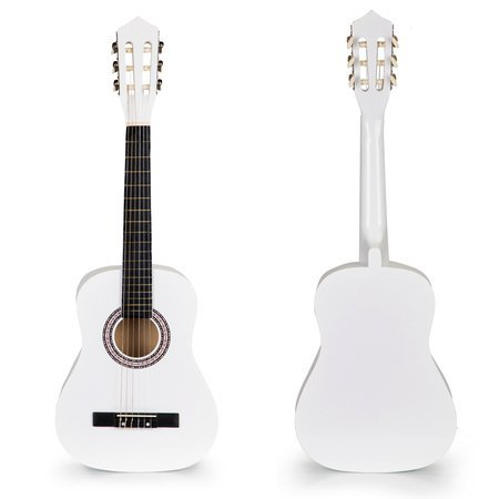Drewniana Biała Gitara 6 strun