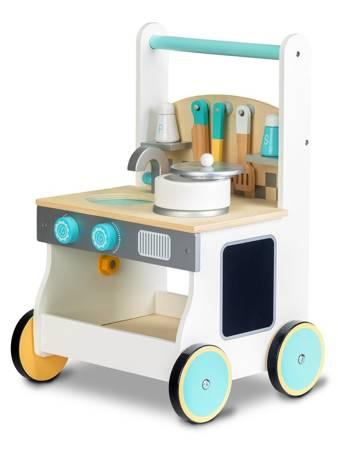 Drewniana kuchenka dla dzieci Wózek