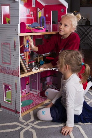 Drewniany Domek dla lalek Barbie Willa Santa Monica  WTD1000