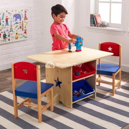 Drewniany Stół i 2 Krzesła Gwiazdka Star Kidkraft 26912