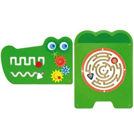 Edukacyjna Drewniana Tablica Sensoryczna Krokodyl Viga Toys