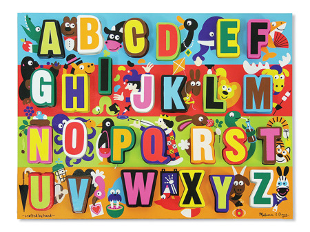 Grube Puzzle Jumbo Literki - Układanka z literkami  Melissa and Doug 13833