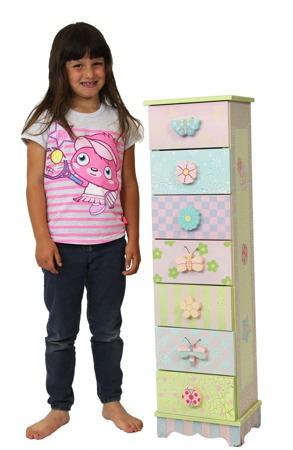 Komoda 7 szuflad Cabinet Crackle Teamson