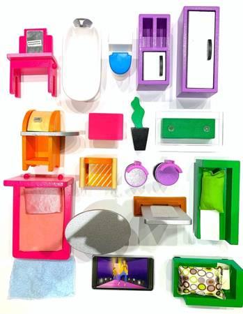 Komplet mebelków do domku dla lalek Modern 19 el.
