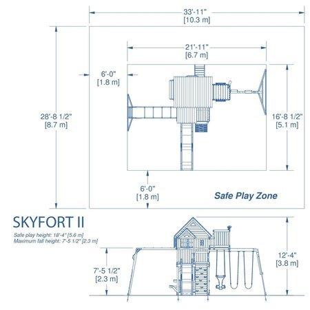 Mega Plac Zabaw Skyfort Adventure 2 Backyard Discovery
