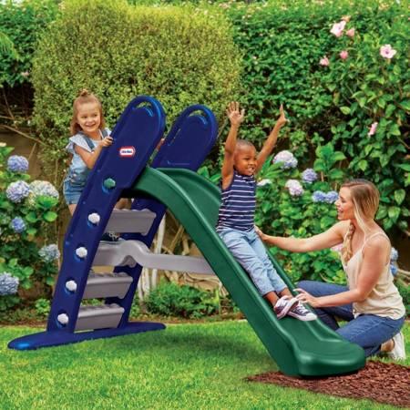 Niebiesko-Zielona Zjeżdżalnia  180 cm LITTLE TIKES