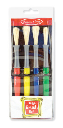 Pędzlelki Pędzle do malowania farbami 4 szt Melissa and Doug 14117