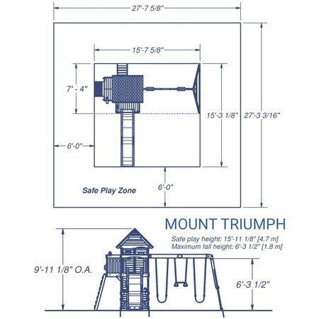 Plac Zabaw z Barem Kuchnią i akcesoriami  Mount Triumph Backyard Discovery 1701014