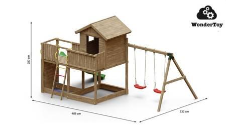 Plac zabaw Galaxy Large Double Swing FunGoo ®