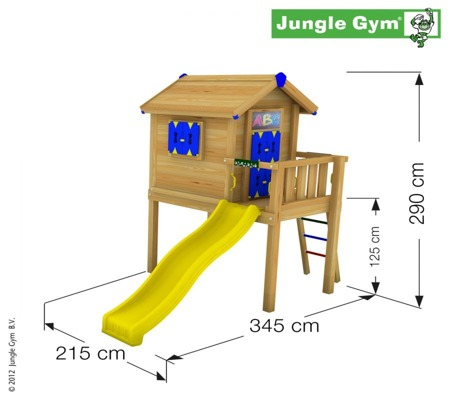 Plac zabaw - Zestaw Jungle Gym Large Playhouse