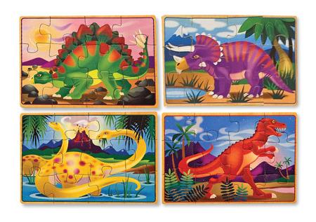 Poczwórne Puzzle Dinozaury  Melissa and Doug 13791