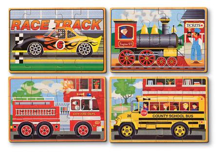 Poczwórne Puzzle Pojazdy  Melissa and Doug 13794