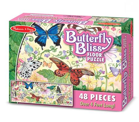 Puzzle Podłogowe Motyle  Melissa and Doug 14412 DSC