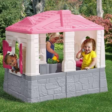 Różowy Domek Ogrodowy Step 2 Neat & Tidy Cottage
