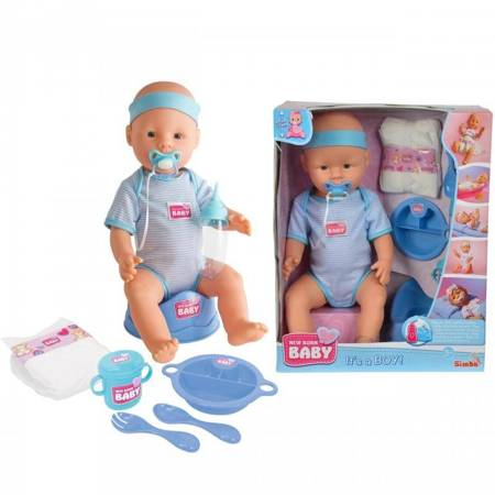 Siusiająca lalka  Chłopiec New Born Baby Simba