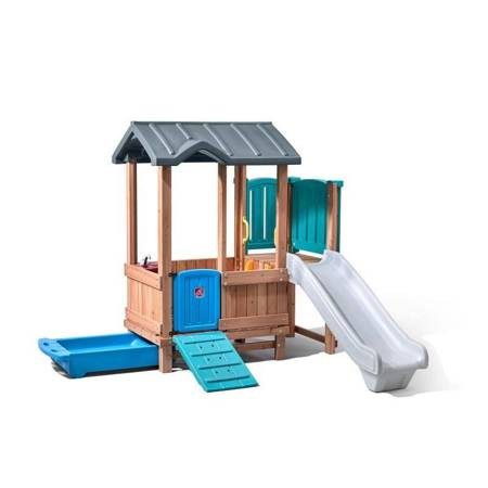 Step2   Drewniany Plac Zabaw Adventure Domek i Zjeżdżalnia