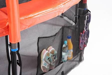 Trampolina Ogrodowa 312cm/10FT Czarna Maxy Comfort Z Wewnętrzną Siatką