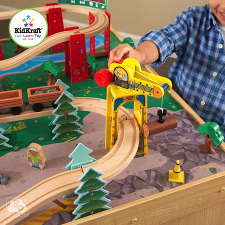 Wysokogórska Kolejka ze Stołem Train Set and Table Kidkraft 18001