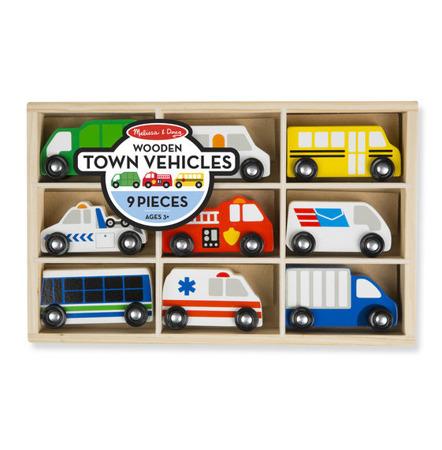 Zestaw Drewniane Pojazdy 9 szt Melissa And Doug 13170