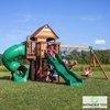 Mega Plac Zabaw Przygoda w Cedrowej zatoce z Turbo Zjeżdżalnią Bocianie Gniazdo i Huśtawki Backyard Discovery